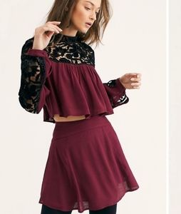 Free People Two Hearts Embroidered Set
